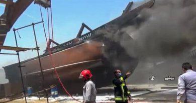 ایران کے بوشہر پورٹ میں کم سے کم 7 جہازوں میں آگ لگ گئی