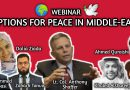 WEBINAR: Options for Peace in Middle-East